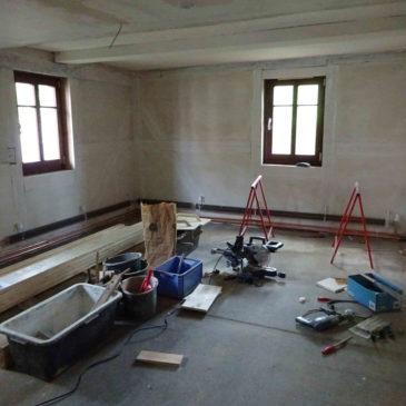 Aktueller Baustand Männer-Frauen-Natur-Bücherei + Gästezimmer